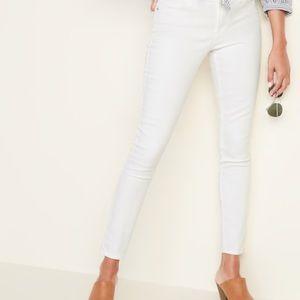 Zara White Skinny Elastic Waist Pants
